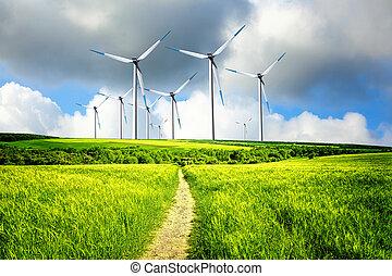 indústria, vento