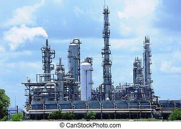 indústrias, óleo, gás