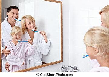 ind, den, badeværelse