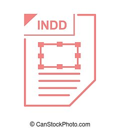 INDD file icon, cartoon style