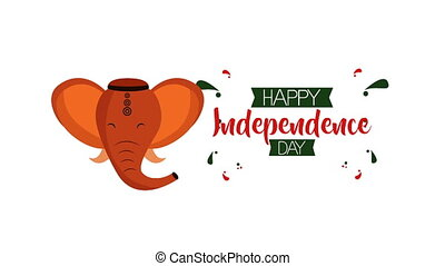 inde, jour, indépendance, célébration