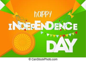 inde, jour, indépendance, heureux