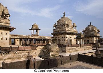 inde, madhya, -, pradesh, orchha