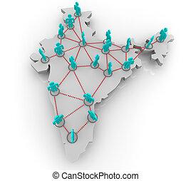 inde, réseau, social