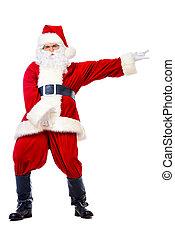 indecent santa - Bad Santa Claus concept. Cheerful young man...