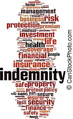 Indemnity word cloud concept