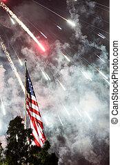 independance, fogos artifício, dia