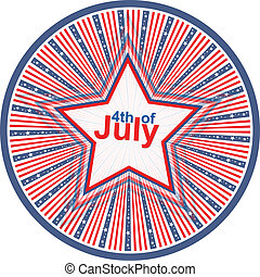 Independence Day 4th of July design
