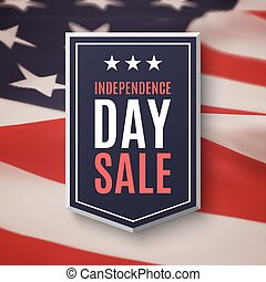 Independence day, 4th of July sale background.