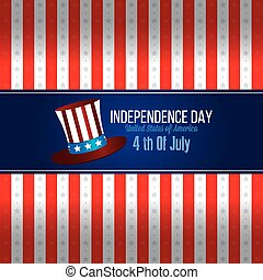 Abstract independence day background with some special objects