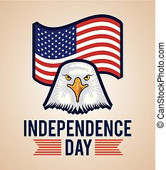 independence day america july celebration date eagle behind...