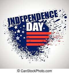 Independence Day Background. Abstract grunge vector