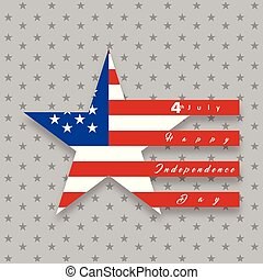 Independence day background and badge logo with US flag