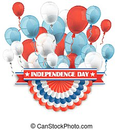 Independence Day Bunting Balloons - Balloons with US...