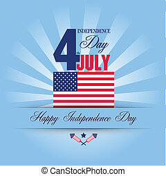 Independence Day card. July 4