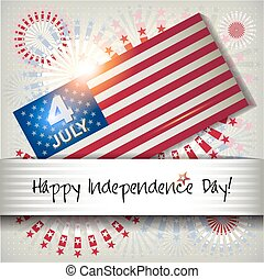 Independence Day card July 4.