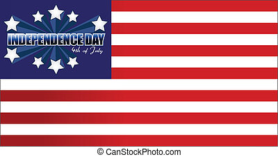 Independence Day card or background