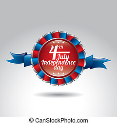 independence day - award ribbon of independence day over...
