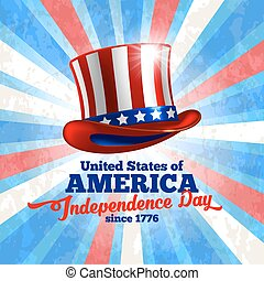 Independence day of United States of America - festive...