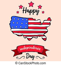 Independence day colorful style card
