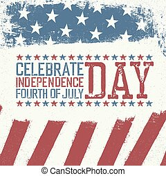 Independence Day Design template. Celebration greeting card...