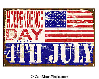 Independence Day Enamel Sign [Converted] - 4th of July ...