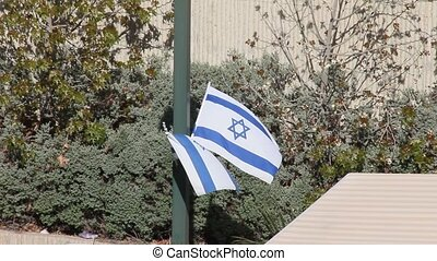 Independence Day. Flags of Israel