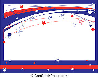 Independence day, frame, vector