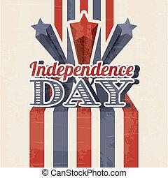 independence day illustration over beige background. vector