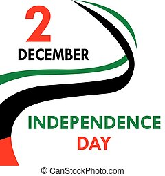 Independence Day in the United Arab Emirates. National Day