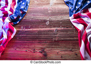 Independence Day. - Independence Day concept. American flag...