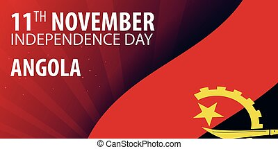 Independence day of Angola. Flag and Patriotic Banner. Vector illustration.