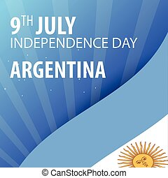 Independence day of Argentina. Flag and Patriotic Banner. Vector illustration.