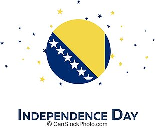 Independence day of Bosnia and Herzegovina. Patriotic...