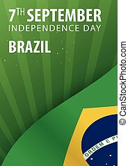 Independence day of Brazil. Flag and Patriotic Banner. Vector illustration.
