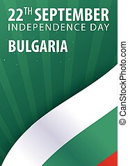 Independence day of Bulgaria. Flag and Patriotic Banner. Vector illustration.