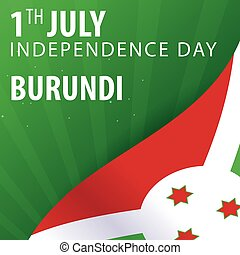 Independence day of Burundi. Flag and Patriotic Banner. Vector illustration.