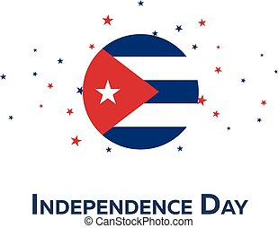 Independence day of Cuba. Patriotic Banner. Vector illustration.