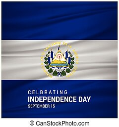 Independence day of El Salvador. Patriotic Banner. Vector illustration