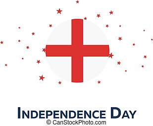 Independence day of England. Patriotic Banner. Vector illustration.