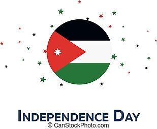 Independence day of Jordan. Patriotic Banner. Vector...
