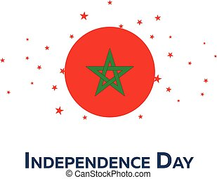 Independence day of Morocco. Patriotic Banner. Vector illustration.