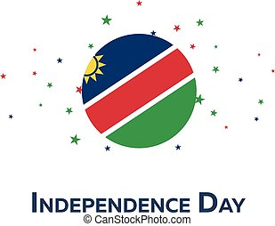 Independence day of Namibia. Patriotic Banner. Vector illustration.