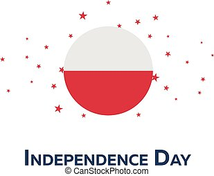 Independence day of Poland. Patriotic Banner. Vector illustration.