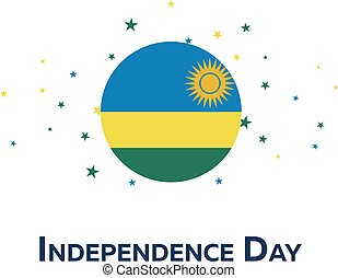 Independence day of Rwanda. Patriotic Banner. Vector illustration.