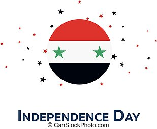 Independence day of Syria. Patriotic Banner. Vector...