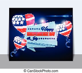 Independence day of the USA typographical background.