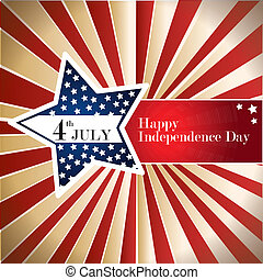 independence day over grunge background vector illustration