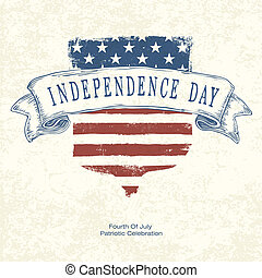 Independence day postertemplate. Vector