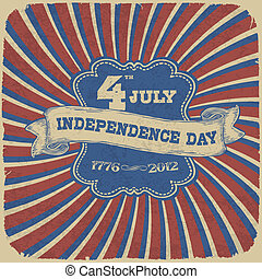 Independence Day Retro Style Abstract Background. Vector illustration, EPS 10